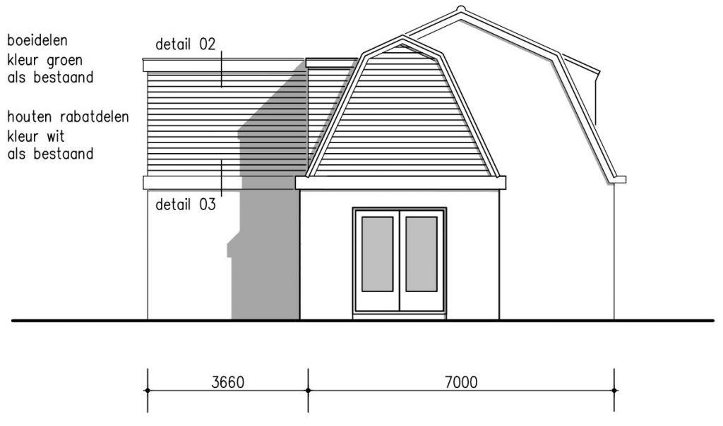 geveltekening dakopbouw