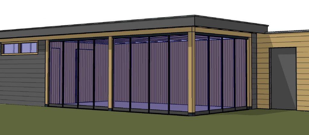 Hoogmeer voorbeeld 3D-weergave Veranda